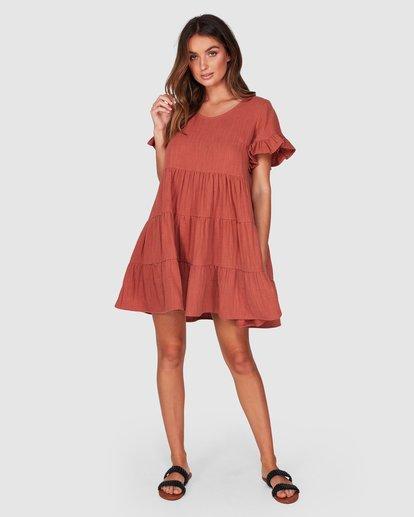 0 Pixie Dress Red JD931BPI Billabong