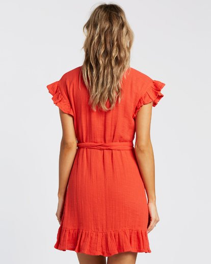 4 Wrap It Up Dress Red JD942BWR Billabong