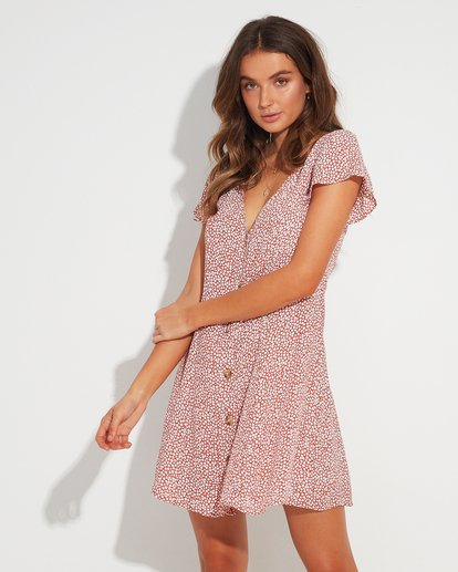 0 Sunlight Dreamin Babylon Mini Dress  JD95TBSU Billabong
