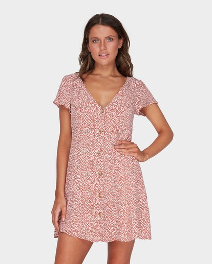 1 Sunlight Dreamin Babylon Mini Dress  JD95TBSU Billabong