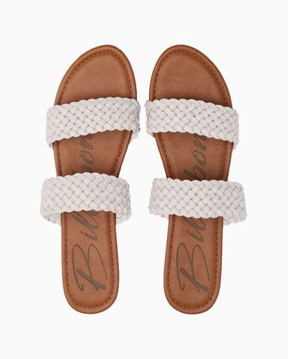 1 Endless Summer Slide Sandal White JFOT1BEN Billabong