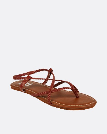 1 Crossing Over Sandal Red JFOTNBCR Billabong