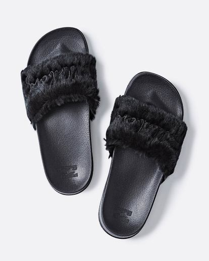 1 Whatevfur Slide Sandal Black JFOTQBWH Billabong