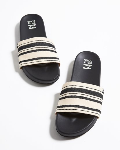 0 Surf Retreat Slide Sandals Black JFOTTBSR Billabong