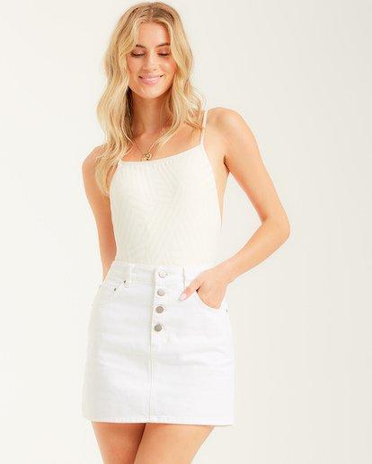 1 Cute As A Button Skirt White JK022BCU Billabong