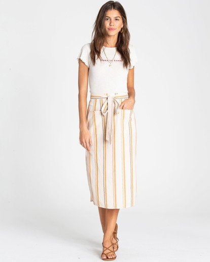 0 Skip It Midi Skirt White JK02TBSK Billabong