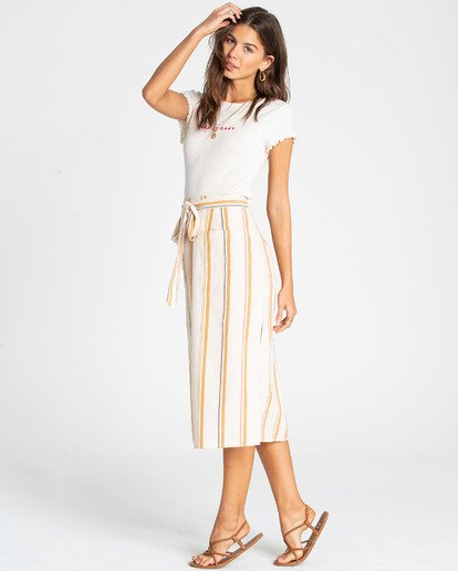 1 Skip It Midi Skirt White JK02TBSK Billabong
