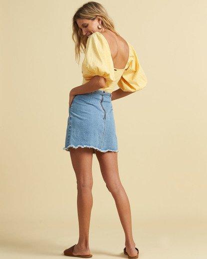 2 Salty Blonde Tied Up Denim Skirt Multicolor JK033BTI Billabong