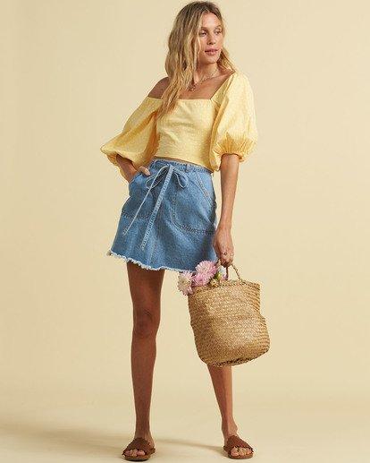 0 Salty Blonde Tied Up Denim Skirt Multicolor JK033BTI Billabong