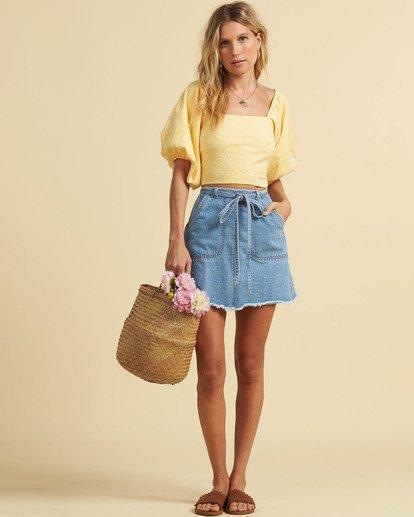 3 Salty Blonde Tied Up Denim Skirt Multicolor JK033BTI Billabong
