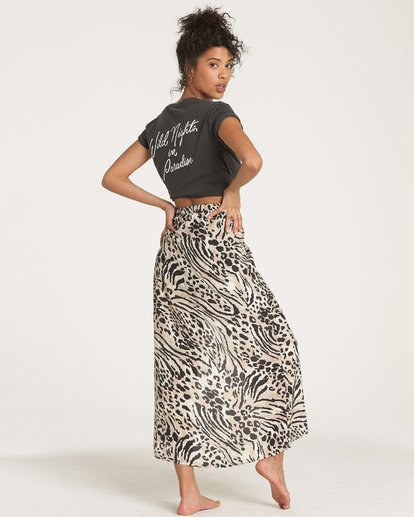 4 Sun Safari Midi Skirt White JK04WBSU Billabong