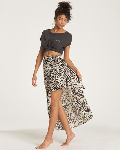 3 Sun Safari Midi Skirt White JK04WBSU Billabong