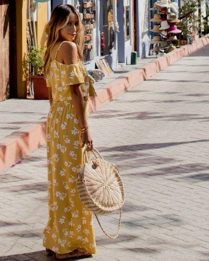 1 Sincerely Jules High Heights Maxi Skirt Yellow JK05TBHI Billabong