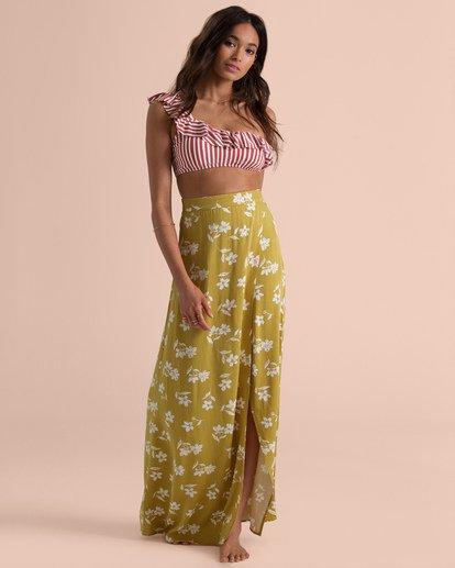 2 Sincerely Jules High Heights Maxi Skirt Yellow JK05TBHI Billabong