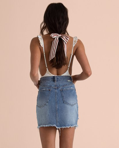 3 Sincerely Jules Take Risk Denim Skirt Blue JK06TBTA Billabong