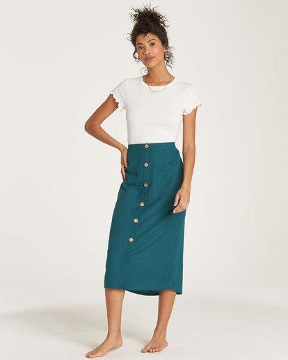 1 Swaying Leaves Midi Skirt Green JK06WBSW Billabong