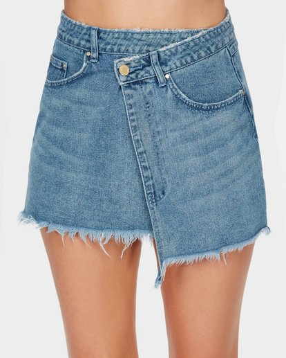 5 The Wrap Denim Skirt  JK10SBWR Billabong