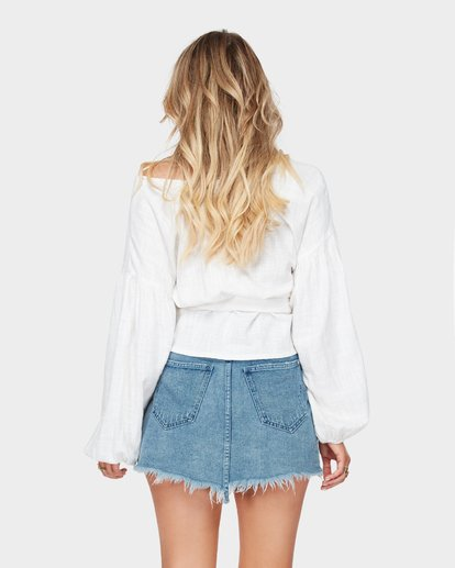 4 The Wrap Denim Skirt Blue JK10SBWR Billabong