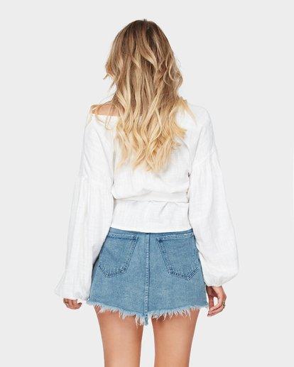 4 The Wrap Denim Skirt  JK10SBWR Billabong