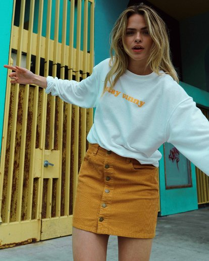 0 Good Life Cord Skirt Yellow JK15VBGO Billabong