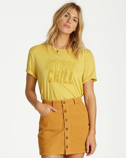 0 Good Life Cord Skirt Yellow JK15VBGO Billabong