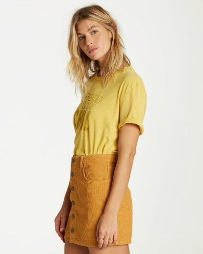 1 Good Life Cord Skirt Yellow JK15VBGO Billabong