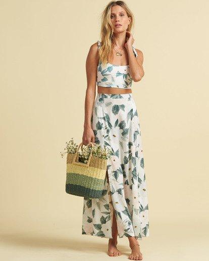 1 Salty Blonde Peachy Keen Maxi Skirt Grey JK163BPE Billabong