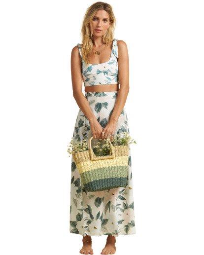 4 Salty Blonde Peachy Keen Maxi Skirt Grey JK163BPE Billabong