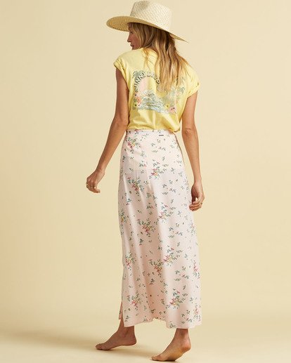 3 Salty Blonde Peachy Keen Maxi Skirt Pink JK163BPE Billabong