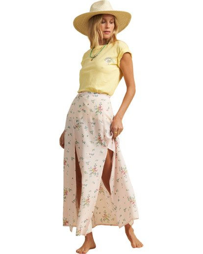 4 Salty Blonde Peachy Keen Maxi Skirt Pink JK163BPE Billabong