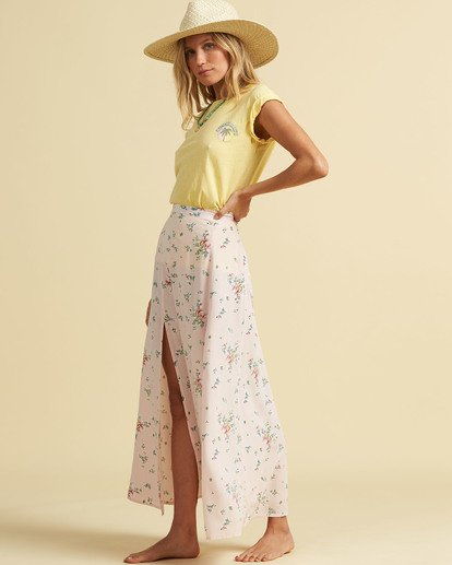 2 Salty Blonde Peachy Keen Maxi Skirt Pink JK163BPE Billabong