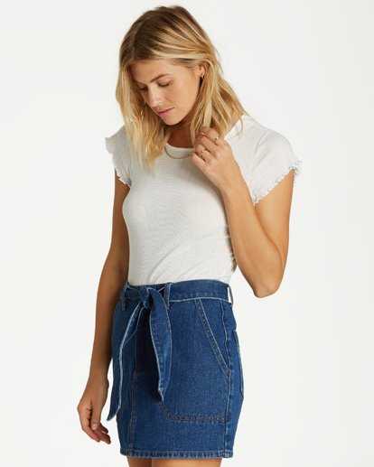 4 Live Simple Indigo Skirt Blue JK17VBLI Billabong