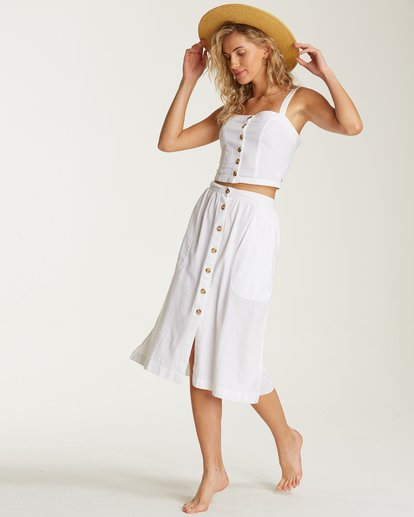 0 Alhambra Midi Skirt White JK20TBAL Billabong