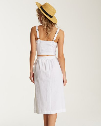 1 Alhambra Midi Skirt White JK20TBAL Billabong