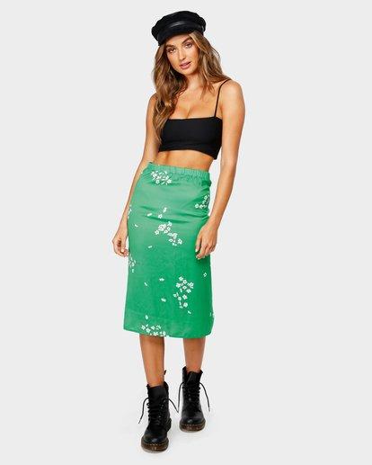 0 Jade Slip Midi Skirt Green JK20UBJA Billabong