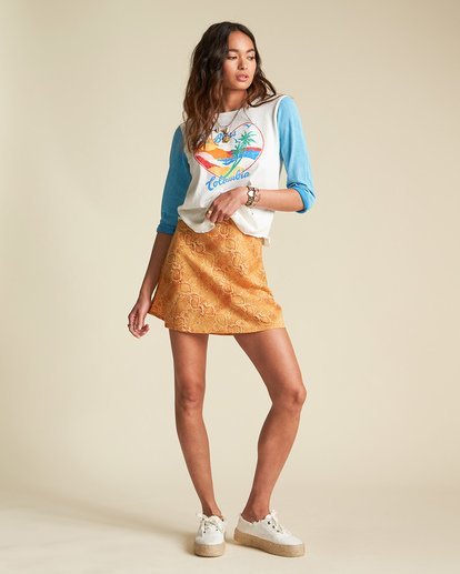 1 Sincerely Jules Short And Free Skirt Orange JK221BSH Billabong