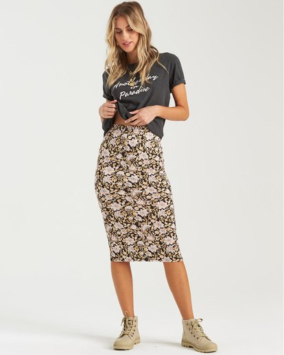 0 Infinate Wishes Skirt Black JK403BIN Billabong