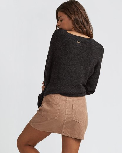 3 Dem Bones Cord Skirt Brown JK70SBDE Billabong