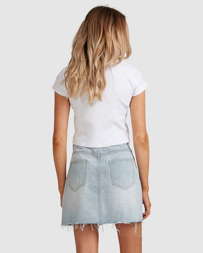 2 Charlie Denim Mini Skirt Blue JK813BCH Billabong