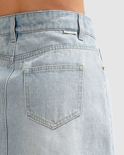 3 Charlie Denim Mini Skirt Blue JK813BCH Billabong