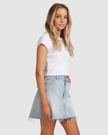 1 Charlie Denim Mini Skirt Blue JK813BCH Billabong