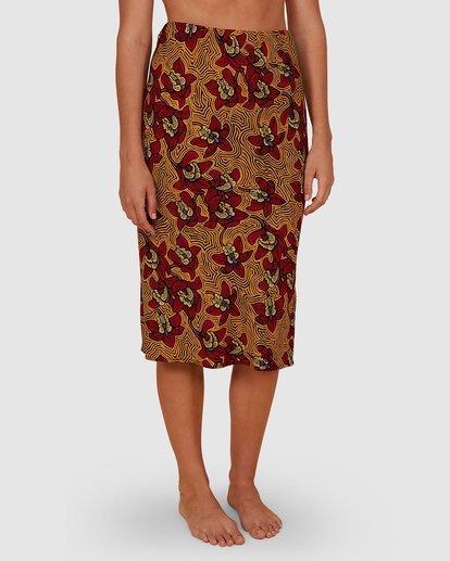 3 Sunbaked Skirt Red JK871BSU Billabong
