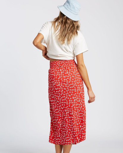 3 Fresh To Free Skirt Red JK931BFR Billabong