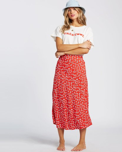 1 Fresh To Free Skirt Red JK931BFR Billabong