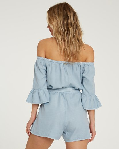 2 Fun For Now Romper Blue JN02TBFR Billabong