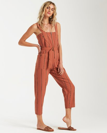 2 Light The Night Jumpsuit Brown JN03VBLI Billabong