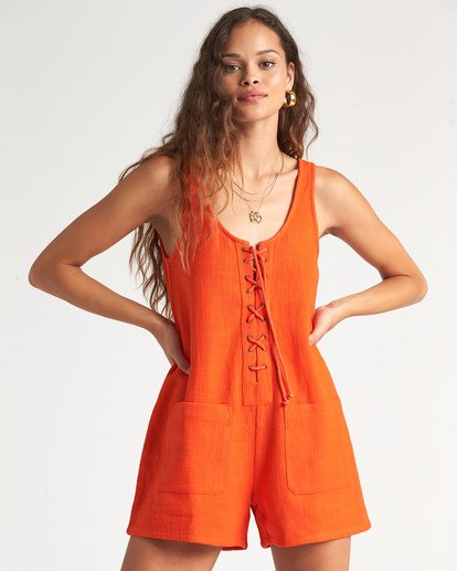 0 Lazy Waves Jumpsuit Orange JN04NBLA Billabong