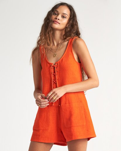 2 Lazy Waves Jumpsuit Orange JN04NBLA Billabong