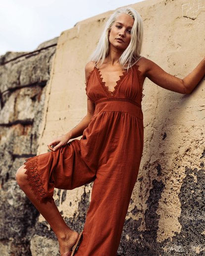 0 Lace And Lies Jumpsuit Pink JN05UBLA Billabong