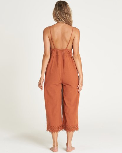 3 Lace And Lies Jumpsuit Brown JN05UBLA Billabong